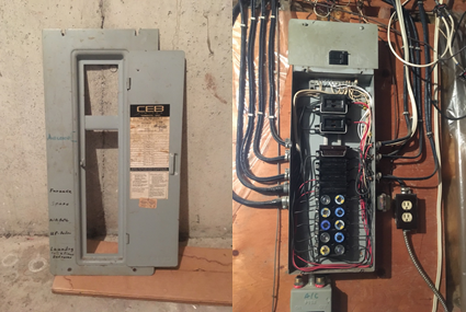 Fuse Panels - Canadian Home Inspection Services on a golden box, a nickelodeon box, a power box, a cable box, a tornado box, a panel box, a spring box, a frame box,